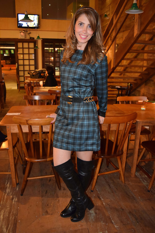 Vestido xadrez _ look do dia _ Arianne Ribeiro