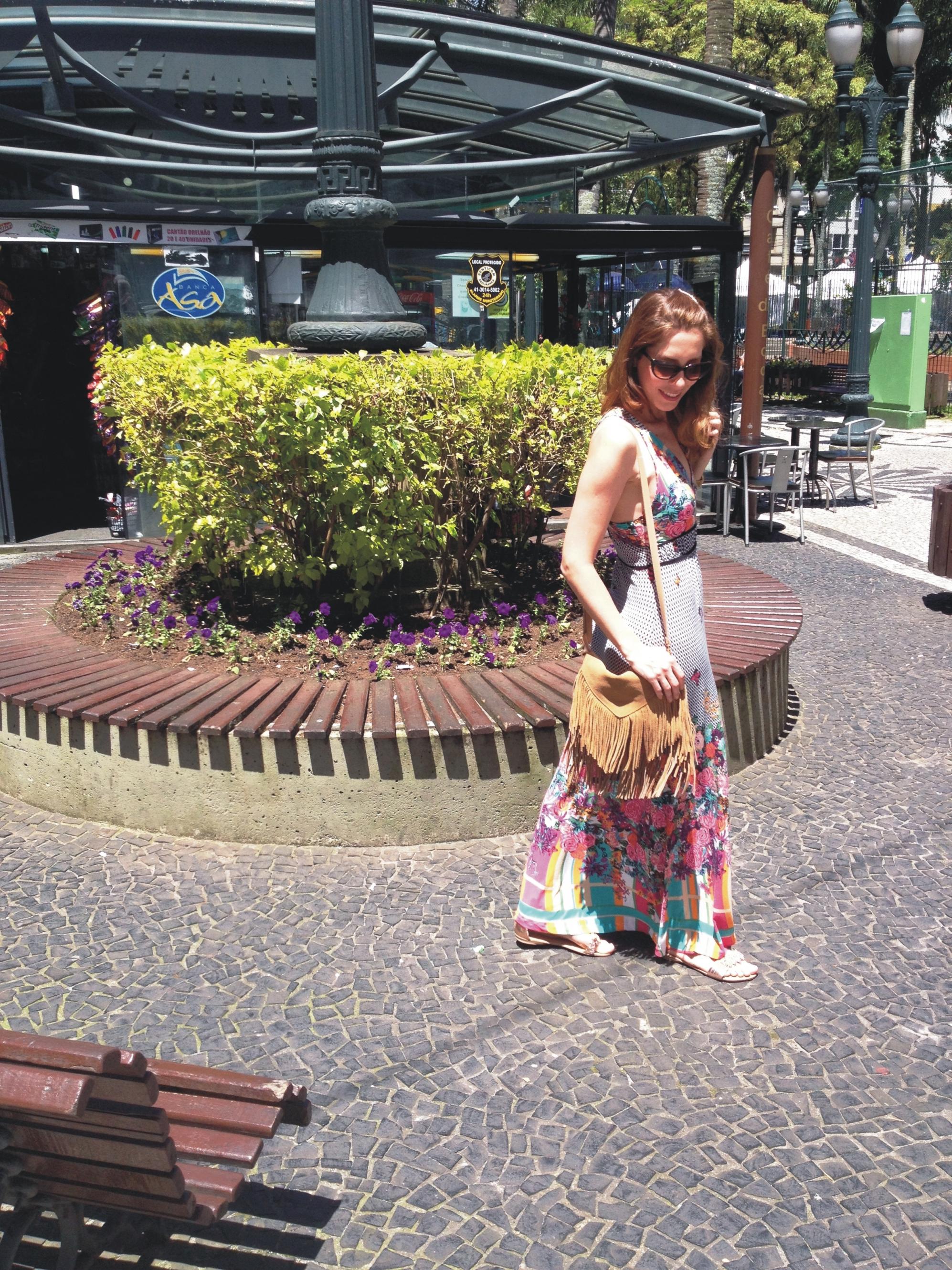 Vestido estampado _ Arianne Ribeiro