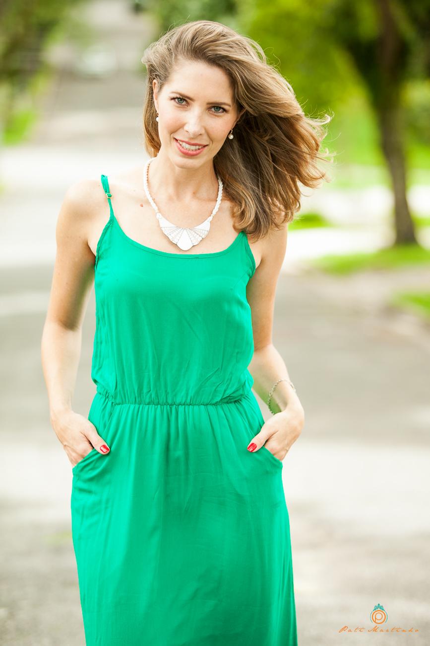 Look para vestido verde