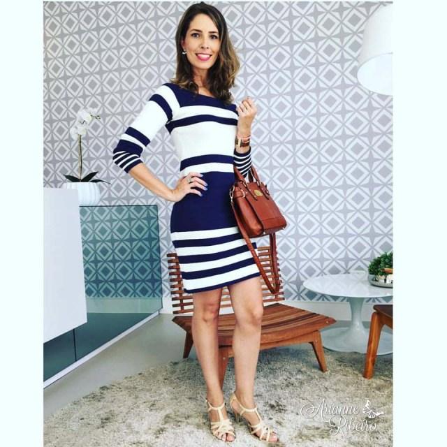 4fb39ac04cb9 Outra opção que montei de look com esse vestido, foi usar com sapatilha! É  uma ótima ideia para o fim de semana!!!